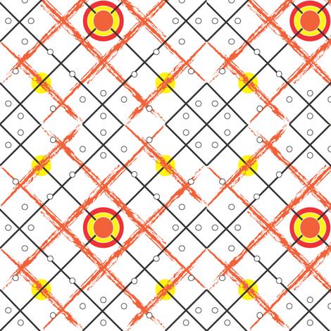 Orange_Diamond_Tribal_Pokadot fabric by michelle_zollinger_tams on Spoonflower - custom fabric
