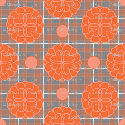 Orange_Grey_Hearts_n_Flowers_n_Pokadot