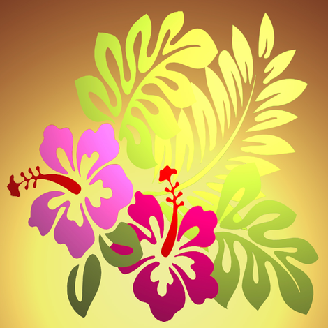 tropical flower fabric by krs_expressions on Spoonflower - custom fabric