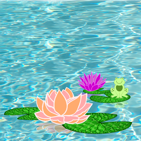 waterlily fabric by krs_expressions on Spoonflower - custom fabric