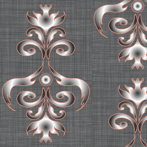 LG_Grey_Eagle_chandelier_Linen fabric by michelle_zollinger_tams on Spoonflower - custom fabric