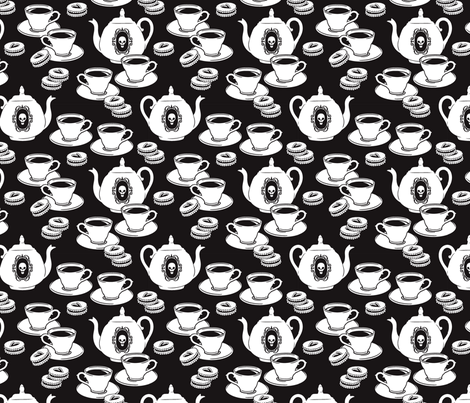 Bring My Tea fabric by blacklilypie on Spoonflower - custom fabric