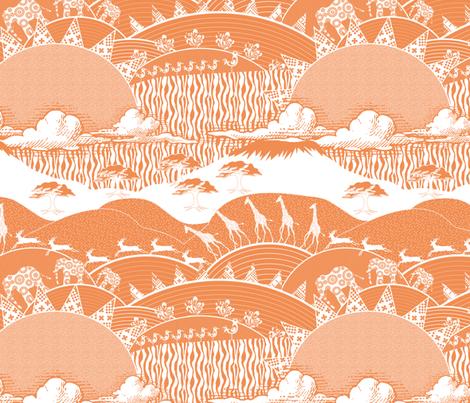 Africa Nectarine fabric by vannina on Spoonflower - custom fabric