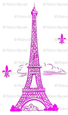 Eiffel Tower Hot Pink