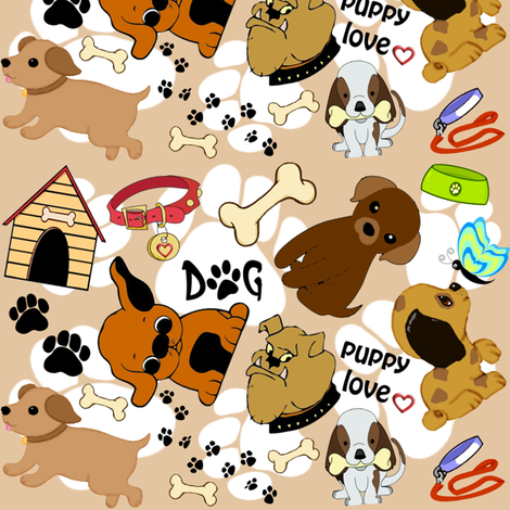 puppy dogs fabric by krs_expressions on Spoonflower - custom fabric