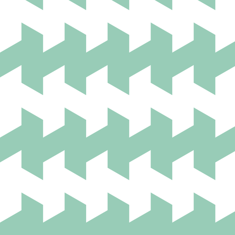 jaggered and staggered in jade fabric by chantae on Spoonflower - custom fabric