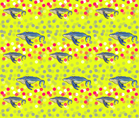 Whales & Dots fabric by taraput on Spoonflower - custom fabric