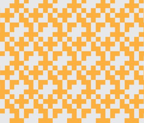 Orange Pixel fabric by kelsey_joronen on Spoonflower - custom fabric