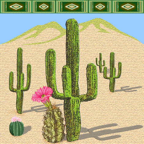 cactus fabric by krs_expressions on Spoonflower - custom fabric