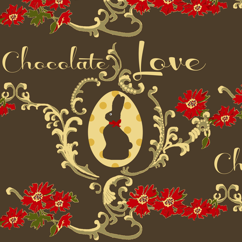 Chocolate Love fabric by paragonstudios on Spoonflower - custom fabric