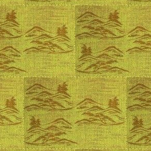 Asian inkscape - lime, brown