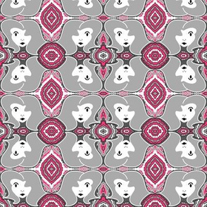Retro Face - Gray and Pink