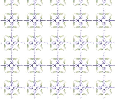 violin quartet 3, purple and green  fabric by lyric_art on Spoonflower - custom fabric