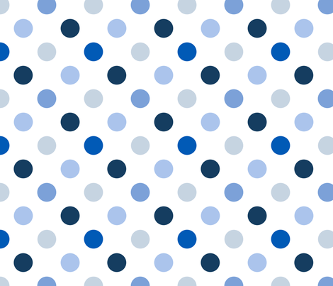 pois_moyen_multi_bleu_M fabric by nadja_petremand on Spoonflower - custom fabric