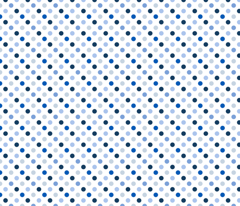 pois_moyen_multi_bleu_S fabric by nadja_petremand on Spoonflower - custom fabric