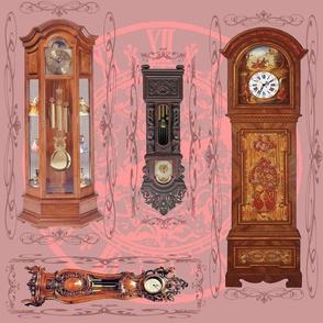 grandfather clocks big - mauve