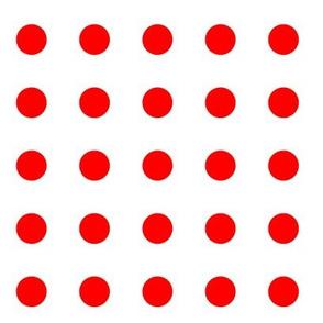 Polkadot red