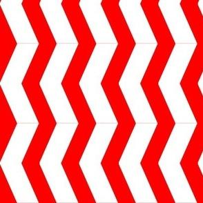 chevron chunky red white