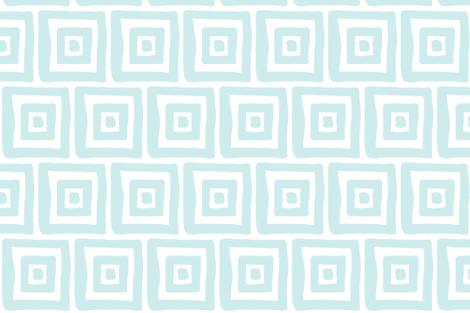 Retro Wonky Square (lt. aqua) fabric by pattyryboltdesigns on Spoonflower - custom fabric