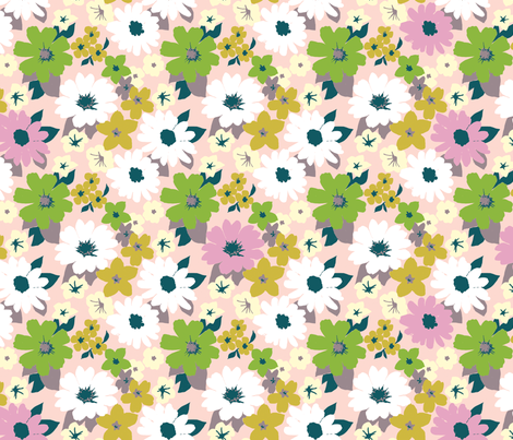 vintage floral wallpaper fabric by melodymiller on Spoonflower - custom fabric