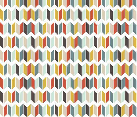Chevron Slices fabric by mrshervi on Spoonflower - custom fabric