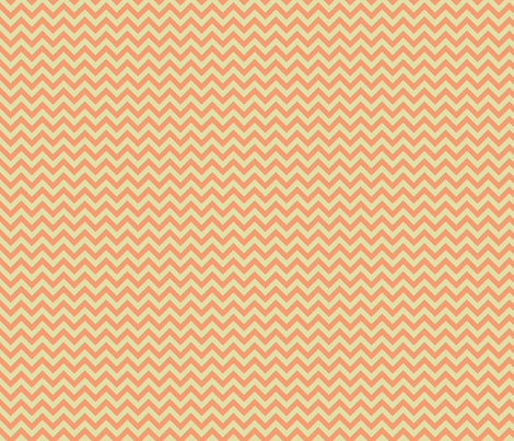 Melon Chevron fabric by sugarxvice on Spoonflower - custom fabric