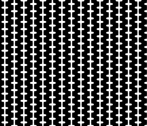 Barbed Wire Zig (black + white) fabric by pattyryboltdesigns on Spoonflower - custom fabric