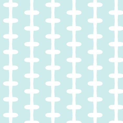 Barbed Wire Zig (lt. aqua + white) fabric by pattyryboltdesigns on Spoonflower - custom fabric
