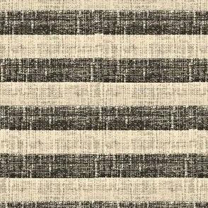 Tuscan Stripe  - charcoal and ash