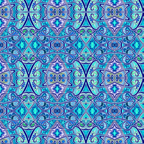 A Stained Glass Midnight fabric by edsel2084 on Spoonflower - custom fabric
