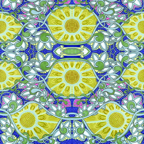 Have a Sunflower Day fabric by edsel2084 on Spoonflower - custom fabric