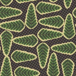 African Fern Wax Print