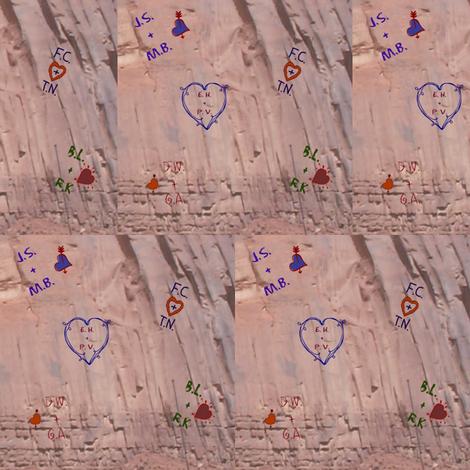 Love Letters Graffiti fabric by ravynscache on Spoonflower - custom fabric