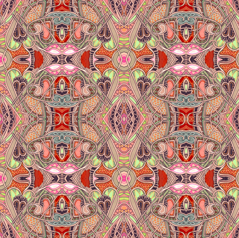 Life is Like a Box of Chocolate (a Valentine box abstract) fabric by edsel2084 on Spoonflower - custom fabric