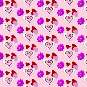 valentines red and purple hearts 5