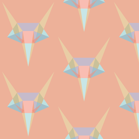 Geometric Fox fabric by verenaerin on Spoonflower - custom fabric