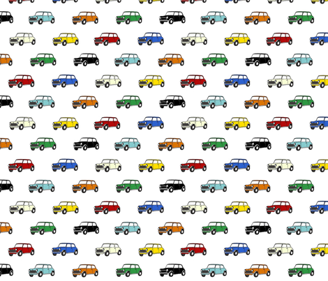 Mini Car Fabric fabric by kaelamills on Spoonflower - custom fabric