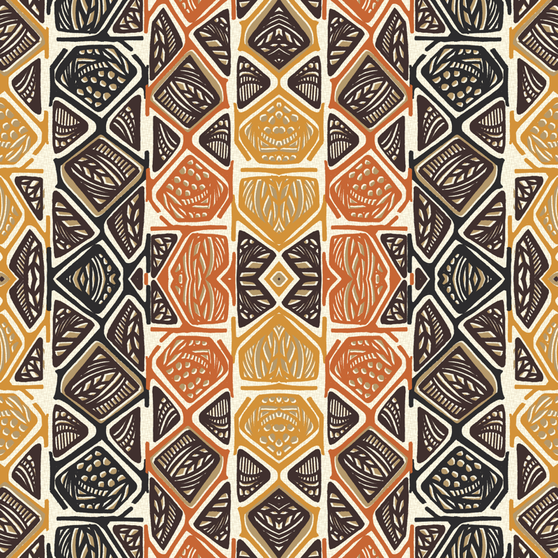 African Tribal Wallpaper