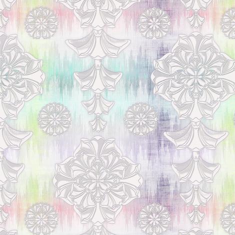 glorius_damask_rainbow_ikat fabric by glimmericks on Spoonflower - custom fabric