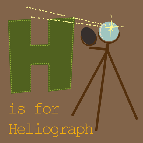 H is for Heliograph fabric by phantomssiren on Spoonflower - custom fabric