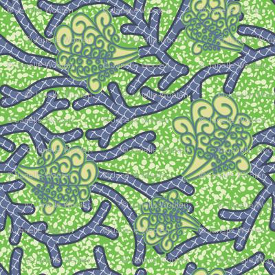 Wax Print Coastal African Fabric