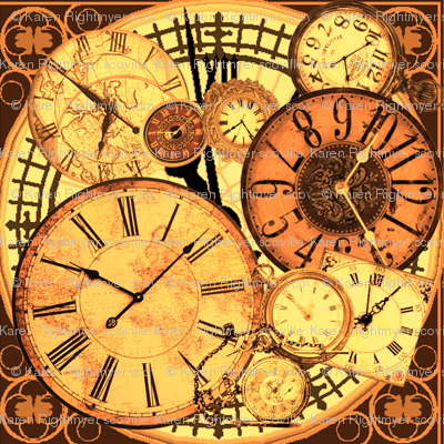 clocks brown