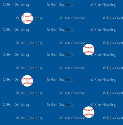 Baseball Dots Dodger Blue