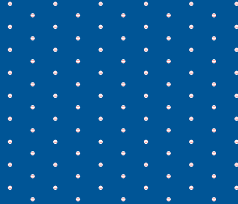 Baseball Dots Dodger Blue fabric by ben_goetting on Spoonflower - custom fabric
