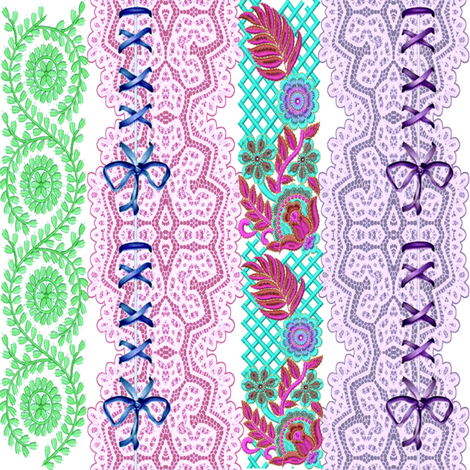 lace and ribbons fabric by krs_expressions on Spoonflower - custom fabric
