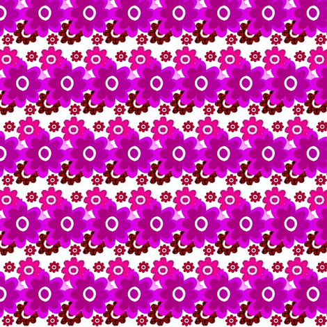 Floral in pink and purple fabric by dk_designs on Spoonflower - custom fabric
