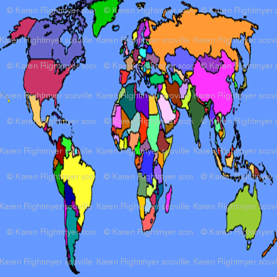 colorful map