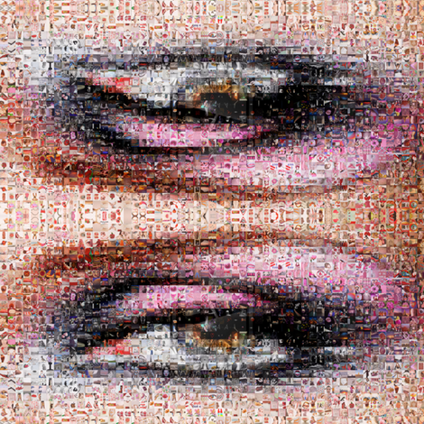 mosaic eye fabric by krs_expressions on Spoonflower - custom fabric