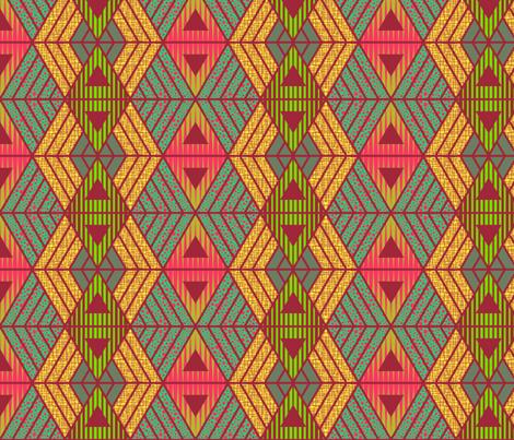 African Geometric  fabric by kimsa on Spoonflower - custom fabric