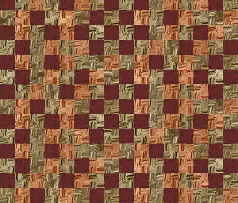 African Path fabric by poetryqn on Spoonflower - custom fabric